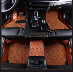 PVC coil waterproof and easy to clean the leather car mat for VOLVO S40