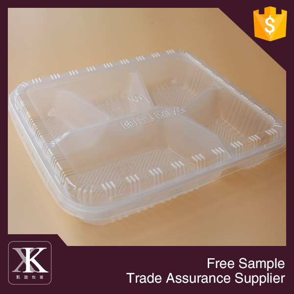 High Class 5-compartment Transparent Bento Lunch Box
