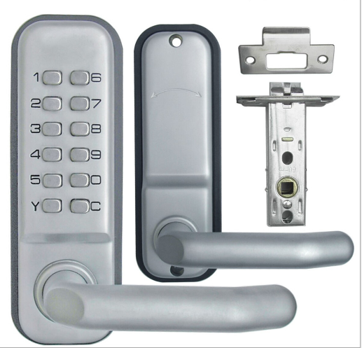 FE595 CAM 619 ACC Camelot Keypad Entry with Flex-Lock and Accent Levers, Satin Nickel