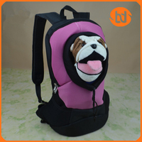 Sandwich mesh pet backpack pet carrier dog backpack