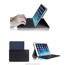 High grade business ultra thin leather table case with wireless bluetooth keyboard for iPad air2 Pro 2017
