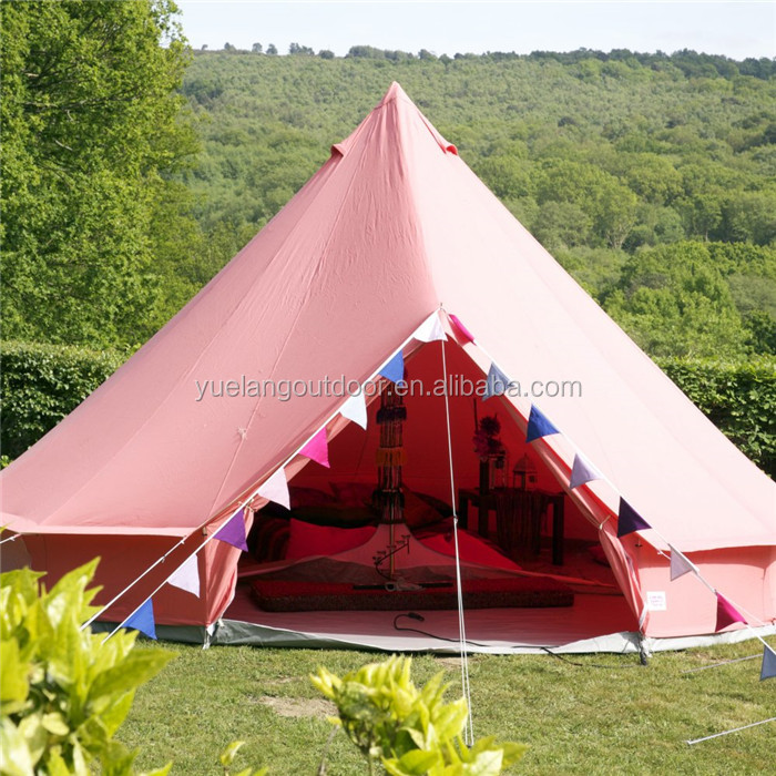 100% cotton canvas luxury bell tent 5m /4m/3msafari tent for sale