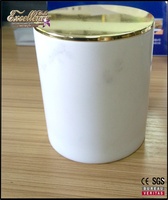 2016 high end decorative marble jar soy wax candle with lid