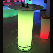 led glow highboy cocktail bar table with clear ghost stool bar cocktail table and chair