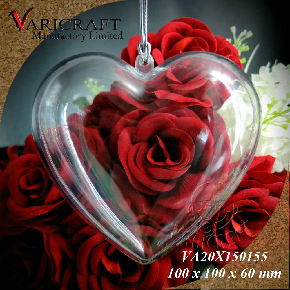 100% Food Grade Clear plastic 100mm Heart shape Valentines day gift Box / case / candy container