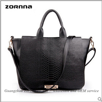 Wholesale luxury crocodile skin style ladies low cost handbags