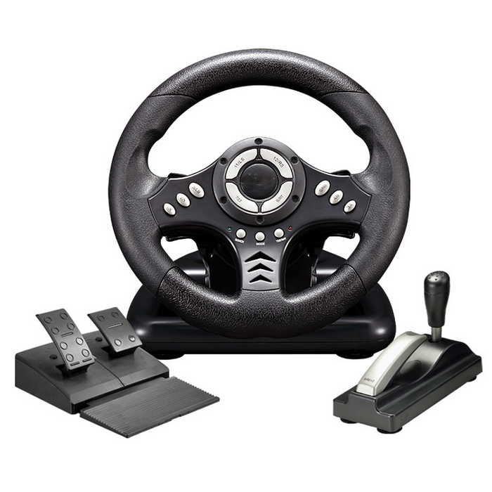 Hot Racing Car Games Steering Wheel Racing Steering Wheels With Pedals For PC
