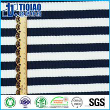 Striped t-shirt ribbing fabric with cotton
