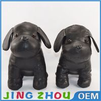 new arriaval modern toys black leather stuffed animals dog toys