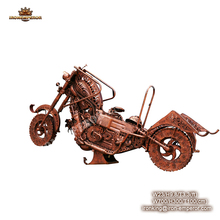 Iron Handmade Metal Decoration Motorcycle Antique Model For Hotel Statue or Bar Decoration life size