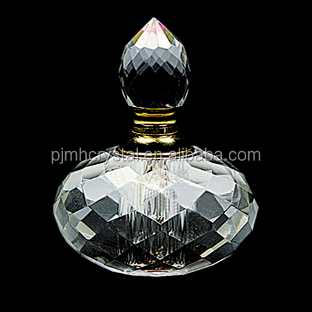 Wedding Crystal Circle Perfume Bottle For Wholesale Supplies MH-XS0043