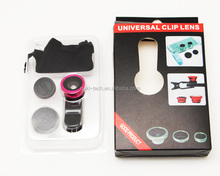 2017 new 3 in 1 universal wide-angle macro lens 180 fish eye lens for iphone 4 4s 5 fisheye lens