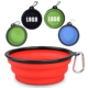 1000ml custom logo 7 color silicone Collapsible dog bowl