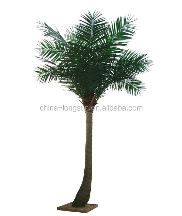 LS170119 foshan manufacturer wholesale garden decorative high imitated artificial coconut palm tree for sell