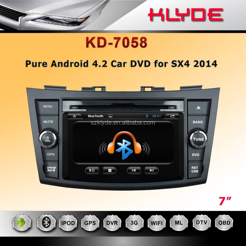 7 inch Android 4.2.2 car dvd audio navigation car multimedia system for Swift