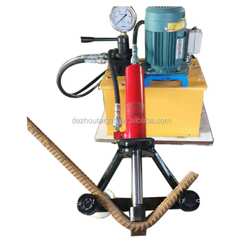portable hydraulic steel rebar bending machine / steel rebar bender with electric pump