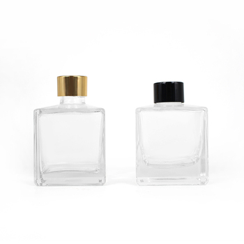 200ml empty clear luxury square decorative reed diffuser glass bottle