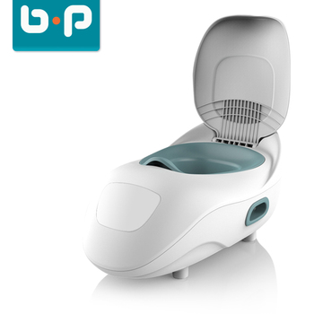 Unisex kids baby potty training seat children portable toilet with backrest
