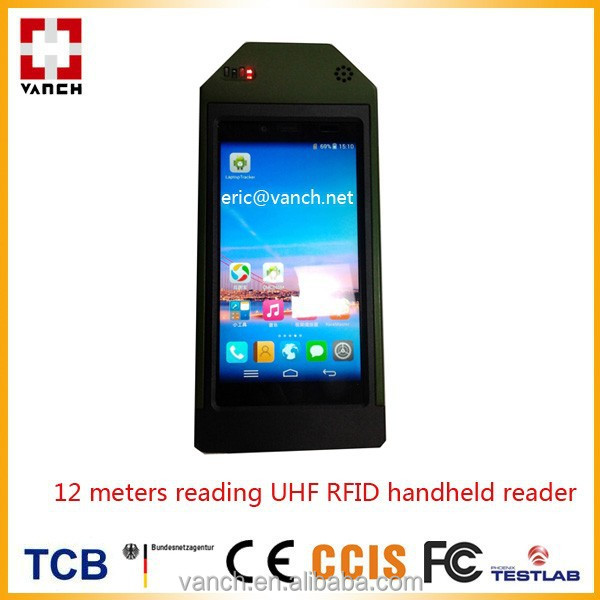 12 meters reading range UHF RFID handheld reader, pda, terminal, pad, phone