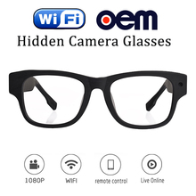 Live streaming 30M wifi 1080p full clear hd best video glasses with camera