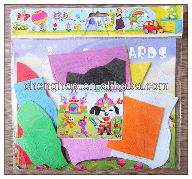 Diy cartoon bear 3d wall painting eva toy