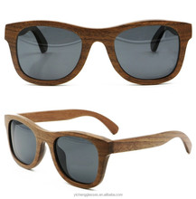 Unique handcrafted popular black walnut layered wooden sunglasses factory direct sale