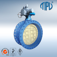 Pneumatic Double Eccentric Lug Type A216 WCB Carbon Steel Butterfly Valve