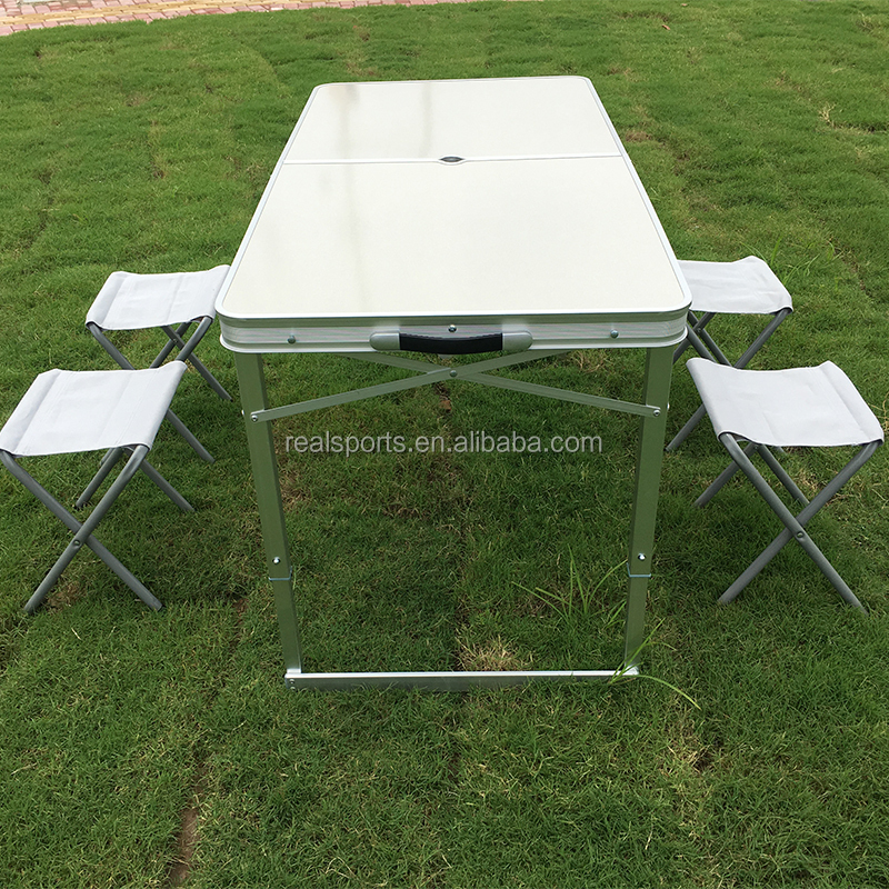 Portable <strong>folding</strong> table and chair set Aluminum table outdoor <strong>folding</strong> table