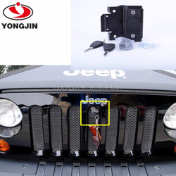 Auto body parts Hood Lock Kit For Jeep wrangler jk 2012 off road accessories