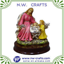 christmas holy family set figurine resin decoration
