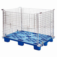 Manufacturer Warehouse Metal Wire Mesh Pallet Stacking Storage Cage for Sale