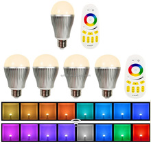 2015 Smart LED Lighting bulb Series led programmable light group rgb full color led bulb with remote control