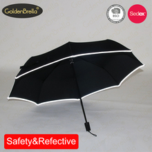 wholesale cheap manual open safety reflective fold umbrella