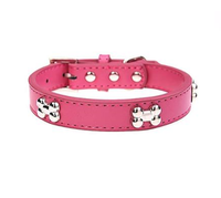 Wholesale Adjustable Cute Paw Soft Leather Pet Dog Collar