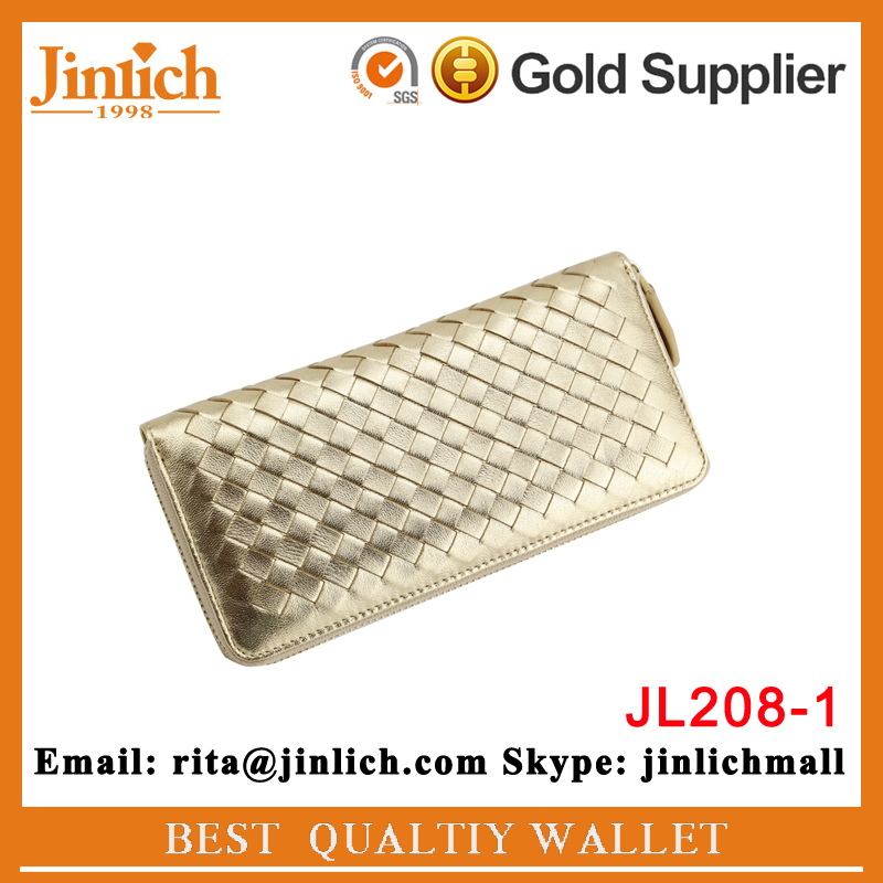 stylish leather golden clutch purse famous brand ladies lambskin wallets