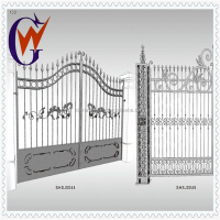 Residential use wrought iron and steel main gate with powder coated