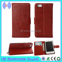 2014 Classic Book Style Leather Wallet Case for iPhone 6 with Stand and Card Slots
