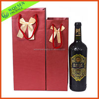 2015 wholesale paper wine bags/ wine box