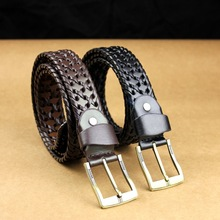 Handmade Band factory sale unique weave latest fashion pu leather belt
