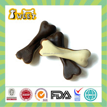 "S M L Size 3""-4"" 18g-50g Chicken Flavor Natural ingredients Dental Care Dogs Application 2 Color Pressed Bone Chew Toy"