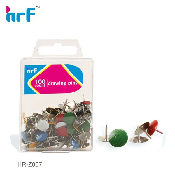 100 pcs Vinly Colored Thumb Tacks in PS box