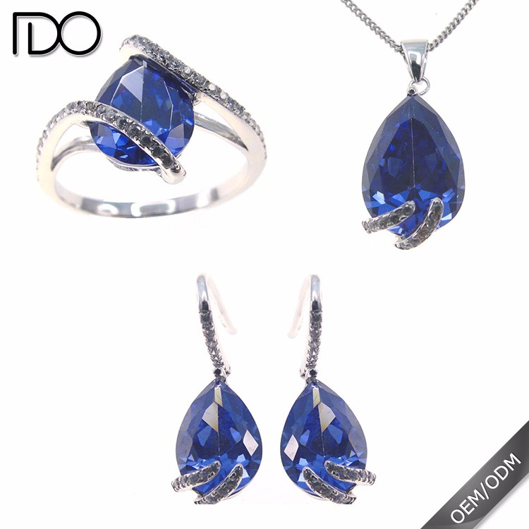 Best cost-effective tanzanite color thailand rhodium plated jewelry