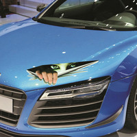 Funny Car Sticker 3D Eyes Peeking Monster Voyeur Car Hoods Trunk Thriller Rear Window Decal
