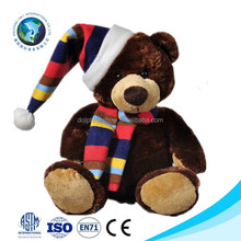 New toys for Christmas 2016 wholesale promotional cute custom stuffed soft plush toy christmas teddy bear