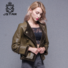 Short payment Lady Overcoat Women Lamb Leather Jacket