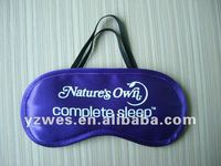 Purple new design satin comfortable with one colour printing logo eye cover