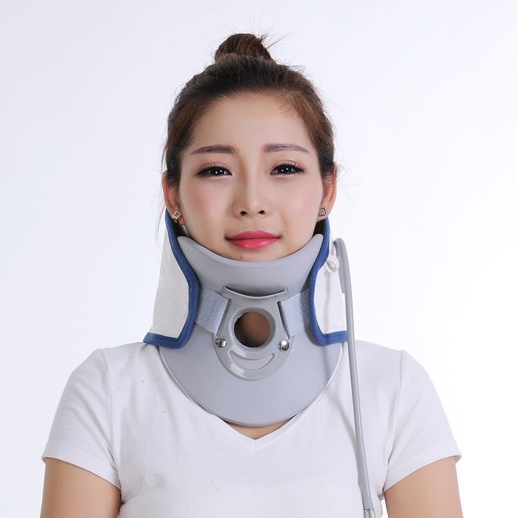 Relief pillow polymer collar design stretcher neck traction