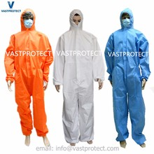disposable microporous sms type 5 6 asbestos protective coverall