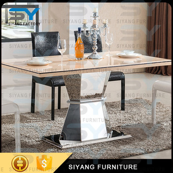 Antique furniture mdf dining table chairs sets dining furniture steel dining table with chair CT033