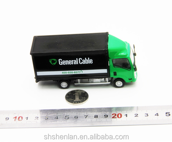 Mini alloy scale 1:64 die cast metal van model